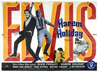 1965 <em>Harum Scarum</em> British Quad Movie Poster (<em>Harem Holiday</em>) - Starring Elvis Presley