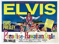 1966 <em>Paradise, Hawaiian Style</em> British Quad Movie Poster – Starring Elvis Presley