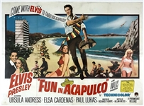 1963 <em>Fun in Acapulco</em> British Quad Movie Poster - Starring Elvis Presley