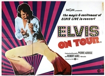 1972 <em>Elvis on Tour</em> British Quad Movie Poster – Starring Elvis Presley